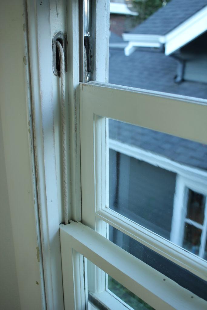 finished wood window