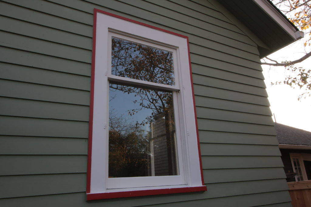 a single pane double hung single window full restored